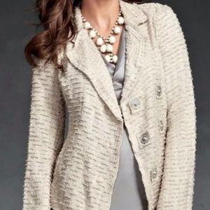 Cabi Tweed Blazer Snaps XS
